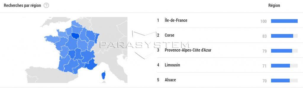 regions france punaises de lit